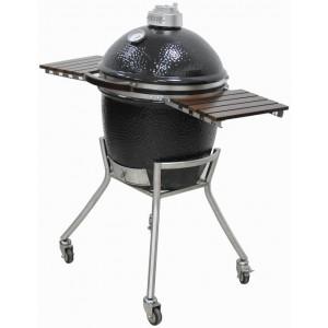 "Kamado Grill on Simple Cart 18"" Black | Charcoal  | Grandfire Kamado | SHOWCASE"